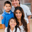 Happy Latin family — Stock Photo