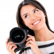 Female photographer — Stock Photo