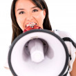 Bossy woman yelling — Stock Photo
