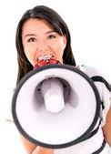 Bossy woman yelling — Stock Photo