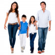 Happy family holding hands — Stock Photo #33129945
