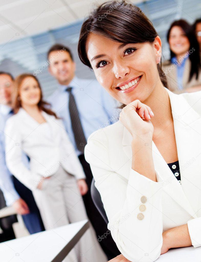 企业女职工 ― 图库照片