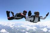 Skoki spadochronowe — Zdjęcie stockowe