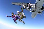 跳伞 — 图库照片