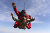 Skydiving photo. Tandem — Stock Photo