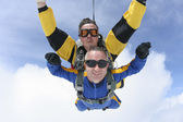 Skydiving. Tandem — Stock Photo
