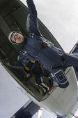 Fallskärmshoppning foto. — Stockfoto