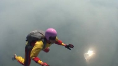 Skydiving video — Stock Video