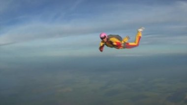 Skydiving video — Video Stock