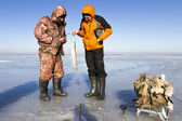 Ice Fishing. — Stock Photo