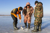 Ice Fishing. — Stock Photo