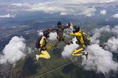 Делающая затяжные прыжки с парашютом фотография. — Стоковое фото