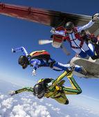 Fallschirmspringen foto. — Stockfoto