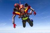 跳伞运动的照片。串联. — 图库照片