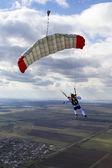 Paragliding flight. — Stock Photo