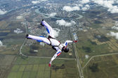 Skydiver in free style. — Stock Photo