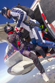Two skydiver — Stock Photo