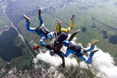 Group of skydivers. — Stock Photo