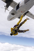 Two girls parachutist. — ストック写真