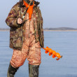 Man on winter fishing. — Stock Photo #50344615