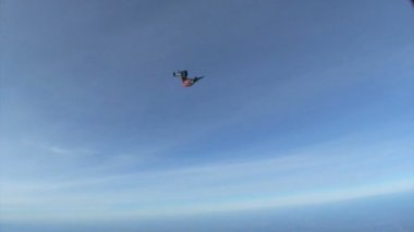 Skydiver jumping out of airplane — Stock Video