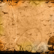 Royalty-Free Stock Photo: Pumpkins and bats halloween vintage background