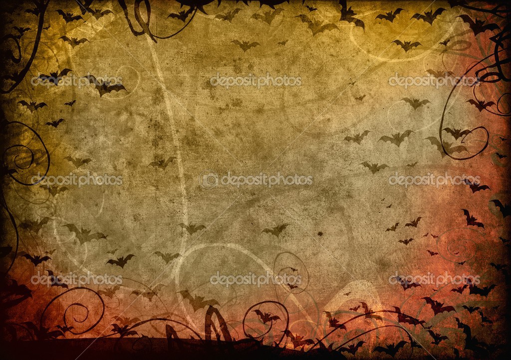 Grunge halloween background card  Stock fotografie #12850372
