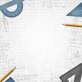 Mathematic school background illustration — Stock Photo