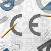 CE European Community background illustration — Stock Photo