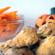 Delicious halloween pumpkin cakes — Stock Photo