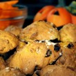 Halloween pumpkin cakes — Stock Photo