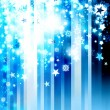 Christmas modern blue background — Stock Photo