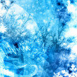 Cold xmas winter texture background — Stock Photo