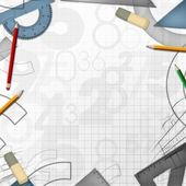 School math drawing tools background — Stock Photo