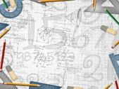 Mathematic school background illustration — Stock Photo