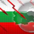 Stock Photo: Bulgarinews crisis background information illustration