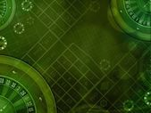 Casino green background — Stock Photo