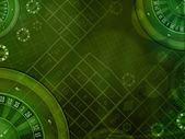 カジノの緑の背景 — ストック写真