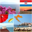 Mediterranean sea dalmatia islands photo set — Stock Photo