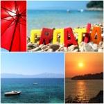 Beautiful postcard from sunny croatia — Stock Photo #24325931
