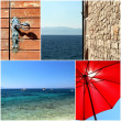 Croatia dalmatia mediterranean sea photo set - Stock Photo