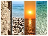Collage of summer holidays images — Stock Photo