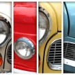 Old car details - lamps collection - Stock Photo