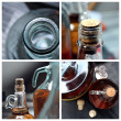 Homemade wine photo set - Stock Photo
