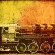 Retro vintage technology, old steam trains, background — 图库照片