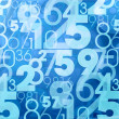 Blue abstract numbers — Stock Photo #27297855