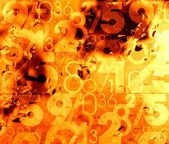Orange abstract hot numbers background — Stock Photo