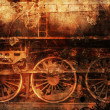 Stock Photo: Rusty train industrial steam-punk background