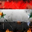 Syria - war conflict illustration — Stock Photo