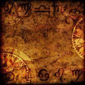 Magiska zodiac bakgrund — Stockfoto